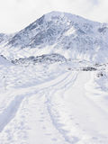 Tracks Through Snow. Tracks Through the Snow, Sierra Nevada, Ca, USA stock images