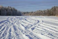 Tracks on snow Royalty Free Stock Photos