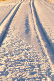 Tracks in the snow Royalty Free Stock Photos