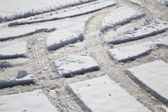 Tracks  on snow Stock Image