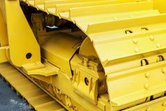 Tracks and suspension, bulldozer Stock Image