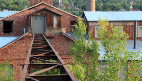 Tracks to the smelter stock images