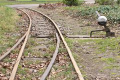 Tracks and Track Switch 1 Royalty Free Stock Image