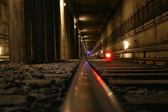 Tracks in a tunnel Royalty Free Stock Photography