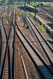 Tracks V1. Many tracks in different directions, interlocking Royalty Free Stock Photography