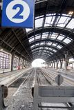 Milan, Central Station. 12/22/2016. Track 2 without trains royalty free stock photos
