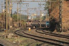 TracksTrain ferroviaire électrique Photographie stock libre de droits