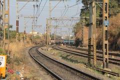 TracksTrain ferroviaire électrique Images libres de droits