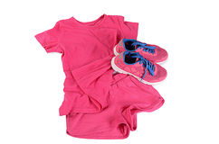 Tracksuit pink color  isolated on white. Background Royalty Free Stock Photos