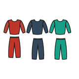 Tracksuit vector. Tracksuit icon fitness. Men's sports suit vector. Stock Image