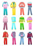 Tracksuits for little girls Royalty Free Stock Image