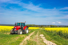 Tracktor in field Stock Photography