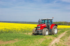 Tracktor in field Royalty Free Stock Photo