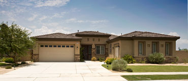 Tract Home, Modern, Southern California Royalty Free Stock Photography