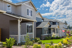 Free Tract Homes In North American New Subdivision Royalty Free Stock Photography - 92376867