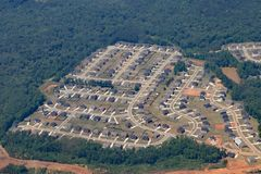 Tract housing in Georgia near Atlanta. Stock Images