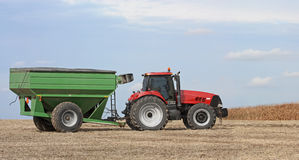 Tracter and Grain Wagon Stock Image
