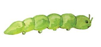 Tracteur à chenilles vert sur un fond blanc illustration de vecteur