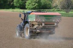 Tracteur au travail Photographie stock libre de droits