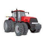 Tracteur de ferme avec de grandes roues Photographie stock