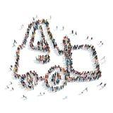 Tracteur de forme de personnes de groupe illustration libre de droits