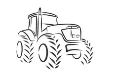 Tracteur de logo illustration stock