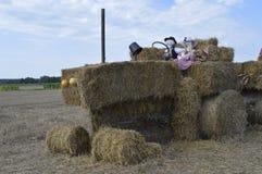 Tracteur de paille Photo stock