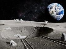 Tracteur lunaire illustration de vecteur