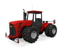 Tracteur rouge d'isolement Photo libre de droits