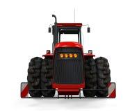 Tracteur rouge d'isolement Photos libres de droits