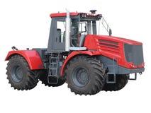 Tracteur rouge puissant moderne de résumé d'isolement au-dessus du blanc photo libre de droits