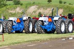 Tracteurs sur l'affichage Image libre de droits