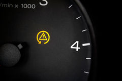 Traction control light. Stock Photo