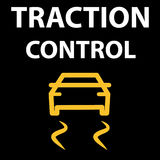 Traction Control System button. Automobile DTC code tester error. Icon vector illustration EPS 10. Vector illustration representing icon of car dashboard Stock Photo