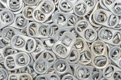 Traction d'anneau de boîte en aluminium Images libres de droits