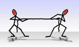 Traction de la corde - concept de concurrence photo libre de droits