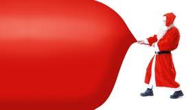 Traction de Santa Claus Photographie stock libre de droits