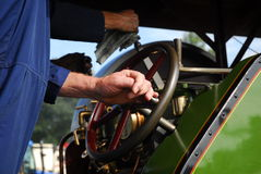 Traction Engine Driver Royalty Free Stock Photography