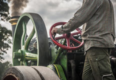 Traction Engine Driver Royalty Free Stock Photo