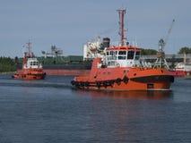 traction subite de bateau Images libres de droits