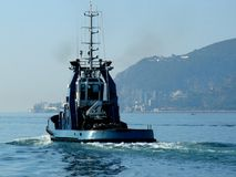 Traction subite vers la mer Image stock