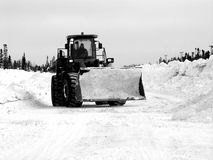 Tractor. Pushing snow in Labrador, Newfoundland Stock Photography