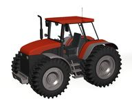 Tractor. 3d render of tractor machine Stock Photo