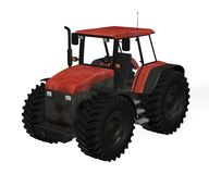 Tractor. 3d render of tractor machine Royalty Free Stock Photo