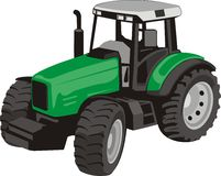 Tractor. Modern agricultural tractor of the green colour Stock Photography