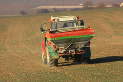 Tractor. Agricultural farm nature vehicle stock photo