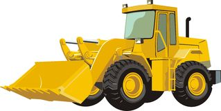 Tractor. For frontal loading loose cargo Royalty Free Stock Image