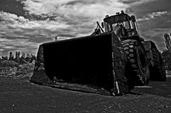 Tractor. In black and white Royalty Free Stock Images