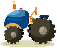 Tractor. Illustration of isolated cartoon tractor on white background Royalty Free Stock Photos