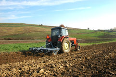 Tractor. At work on a field Royalty Free Stock Photo